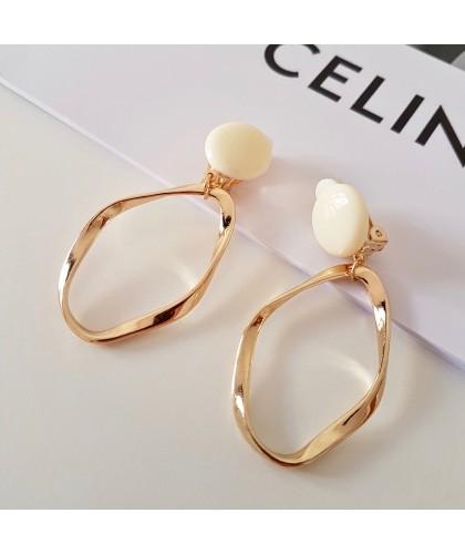 Pendientes White & Gold