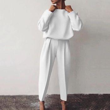 Total Look en blanco